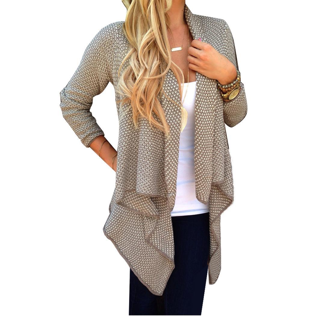 Stylish Ladies Women Loose Casual Knit Cardigan Jacket Irregular Sweater Tops Coat Sweatercoat