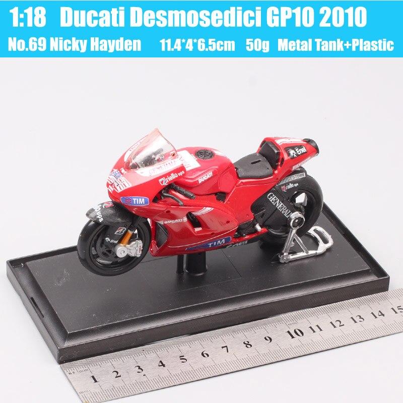 NICKY HAYDEN MINIATUR MODELL MOTORRAD in der Uhr DUCATI-01
