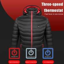 Унисекс куртки с подогревом тепловое пальто usb электрическая