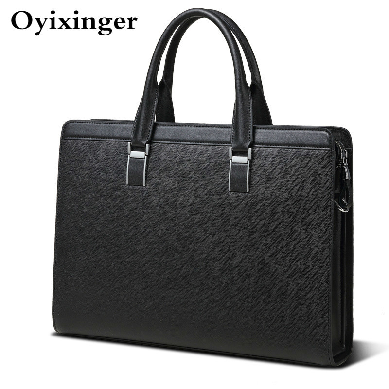 Men's Briefcases Genuine Leather Men Office Bags For Men 14