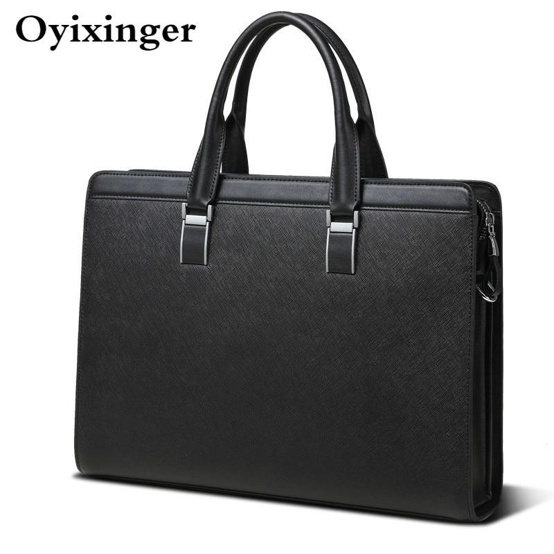 Men's Briefcases Genuine Leather Men Office Bags For Men 14