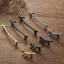 96/128mm Fashion Tree Branch Furniture Handle Drawer Knobs Black Silver Bronze Kitchen Cabinet Handles Door Pulls Hardware