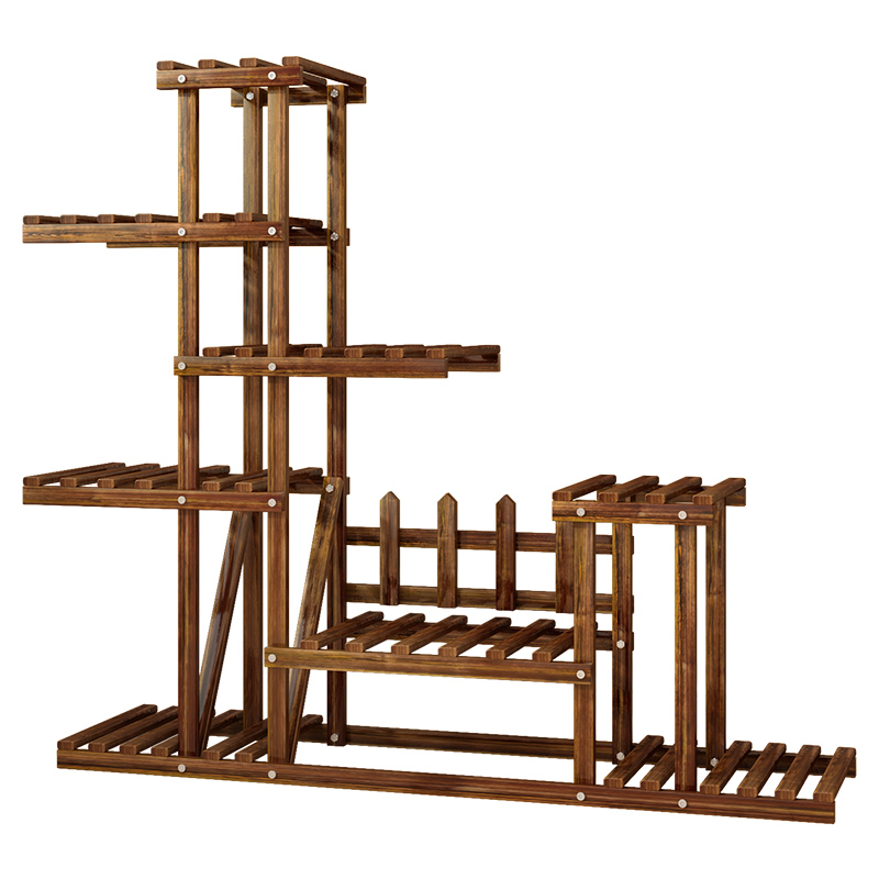 Multi-storey Modern Simplicity Indoor Balcony Landing Type Solid Wood Meaty A Living Room Botany Flowerpot Frame