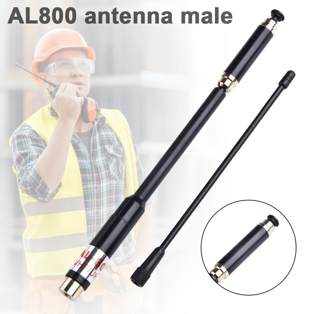 High Gain Telescopic Antenna AL800 UHF//VHF SMA-M for Yaesu VX7R VX8R VX150 ZT2R+