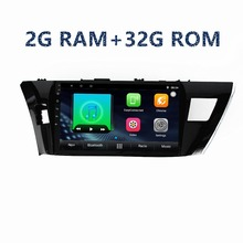 10 2din coche GPS de navegación 2G + 32G Android reproductor Multimedia para toyota Corolla 2014 a 2015, 2016 con radio BTstereo FM WIFI