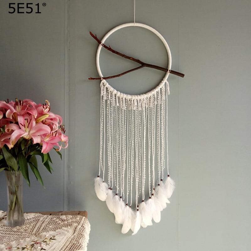 Один кусок ручной работы Ловец снов перо настенные украшения Свадебные украшения диаметр 40 см