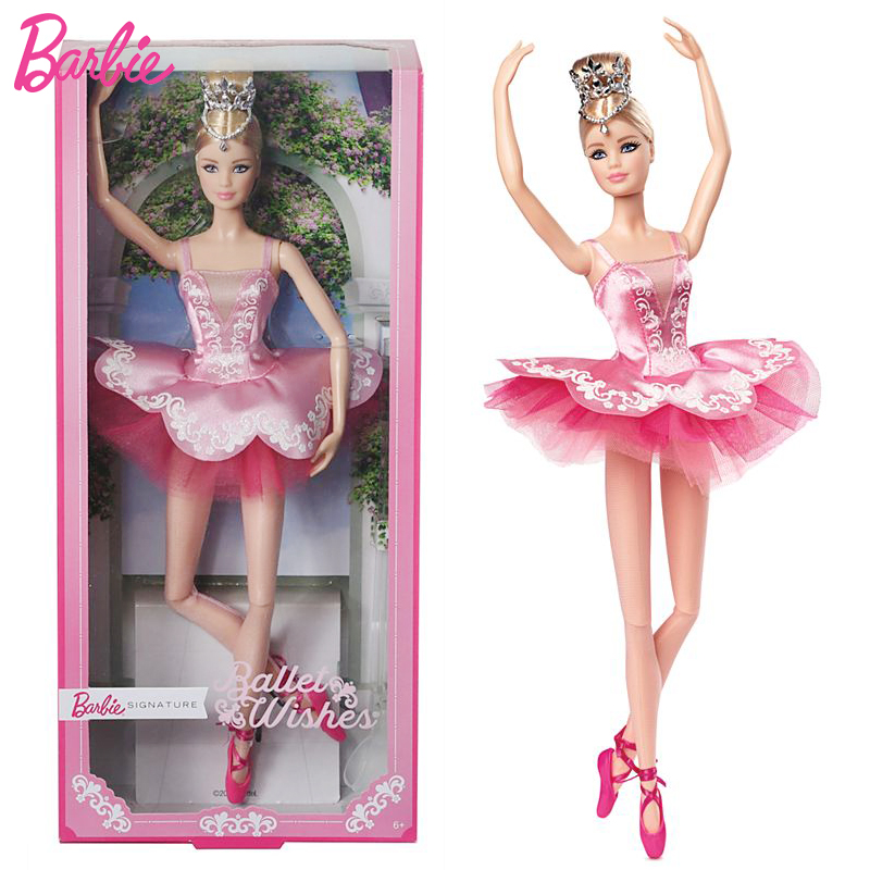 Barbie Original Doll Brand Collectible Doll Ballet Wish Doll Toy Princess Girl Birthday Present Girl Toys Gift Boneca Brinquedos