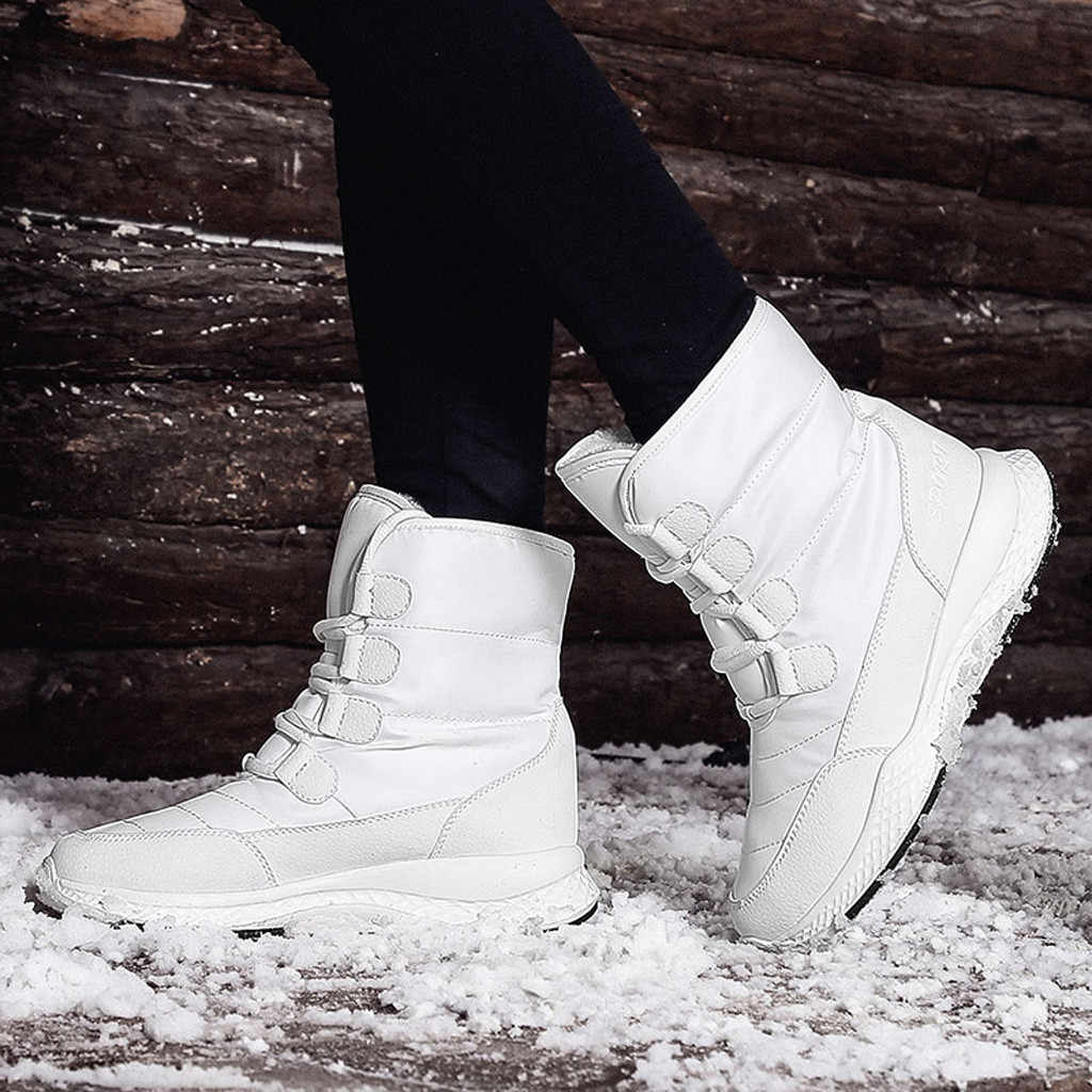 Winter Warmer Hiking Snow Boots Women Casual Plus Velvet Warm Cotton Boots Waterproof And Comfortable Snow Boots botas feminina