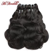Human-Hair-Bundles Body-Wave Brazilian-Hair Ali Annabelle Double-Drawn 1/3/4pcs