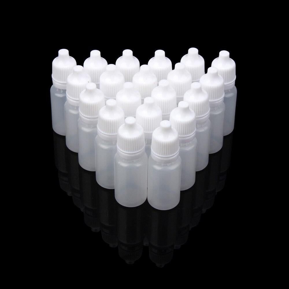 52PCS 5ml/8ml/10ml/15ML/20ML/30ML /50ML Empty Plastic Squeezable Pressure Dropper Bottles Eye Liquid Dropper