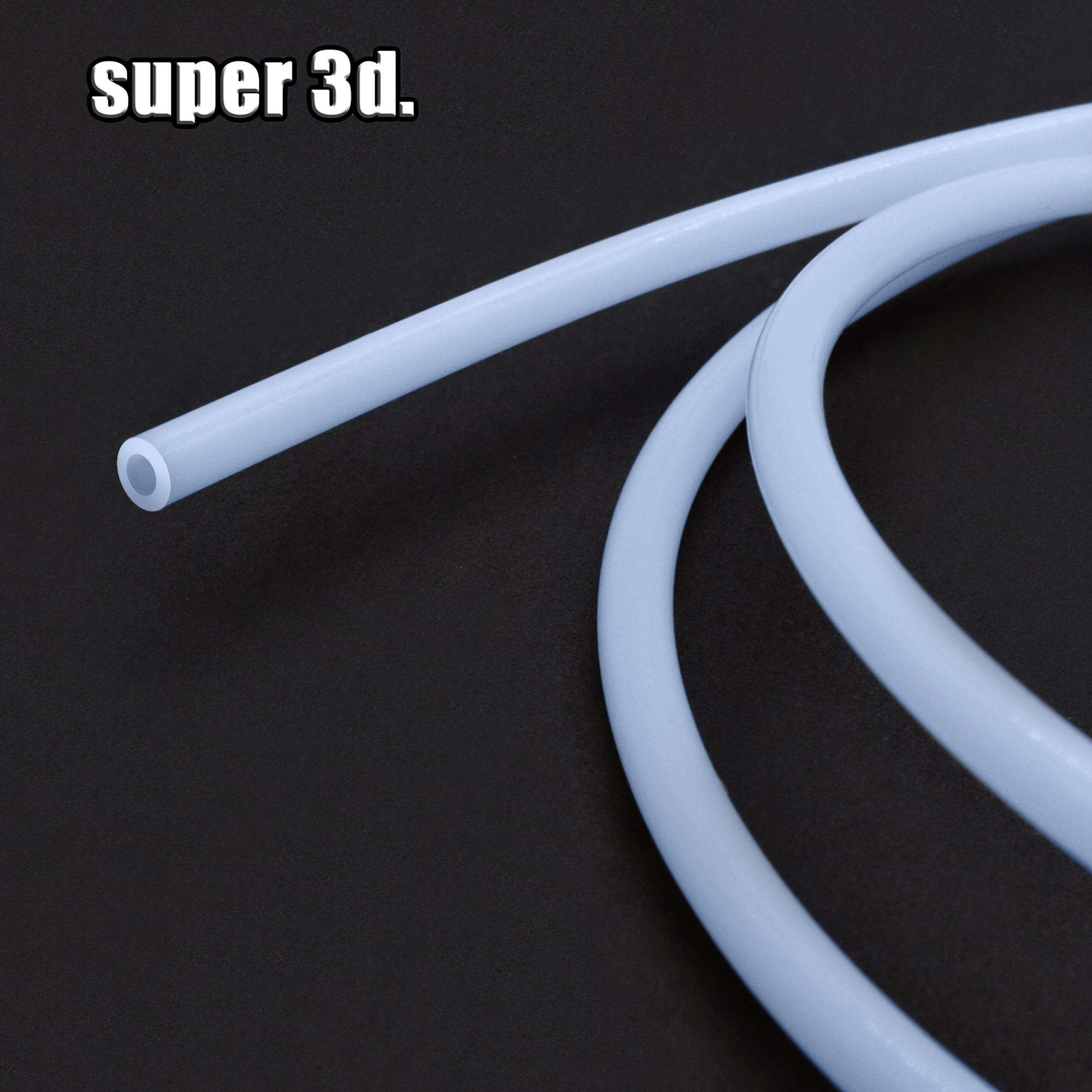 3D Printer Part 1Meter bowden extruder PTFE tube Teflon Pipe for  J-head Hotend V5 V6 1.75mm /3mm Filament ID 2mm 1mm 3mm OD 4mm 1