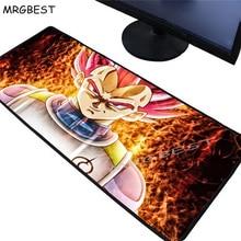 MRGBEST Dragon Ball Z Anime Large Lockedge Gaming Mouse Pad Gamer Keyboard MouseMat Desk Mousepad for CSGO LOL Dota Game