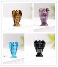 1PC Natural Crystal Guardian Angel Statue, Cure Jewel Home Decoration Study Decoration Craft Gifts