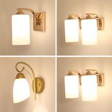 Country Wall Lamp Simple Modern Golden Living Room Wall Bedroom Bedside Lamp Aisle Lamp