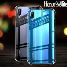 For honor 9 huawei lite case Full Protection Soft Clear TPU Silicone Cases 9x Crystal Phone Case x cover