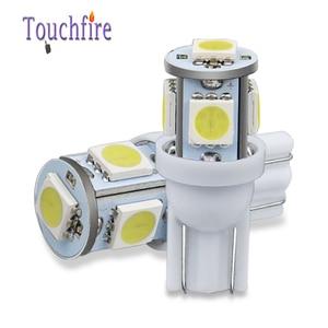 Image 2 - 100 個 5LED車の電球T10 194 W5W 5050 smd駐車ドーム信号サイドランプトランク白、青、黄色ライト 12v卸売dropshiping