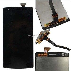 Image 1 - 100% 保証完璧なテスト Oneplus 1 Lcd ディスプレイタッチスクリーンセンサー Oneplus 1 1 + A0001 デジタイザ送料無料