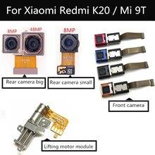 Para xiaomi redmi k20 pro frente traseira frente frente câmera traseira para xiaomi mi 9t pro módulo de câmera de frente principal flex módulo de levantamento do motor