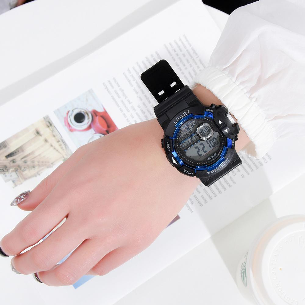 Новинка 2020 модные цифровые часы светодиодные мужские электронные