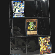9 Square Card Page Dragon Ball Z Yu Gi Oh Transparent PP Toys Hobbies Hobby Collectibles Game Collection Anime Cards turbo x5 z page 9
