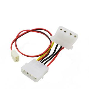 Computer 3 Pin Female to 4 Pin PC Fan Power Transform Cable Extension Wire 26Cm for Computer fan PVC Graphics Card Interface