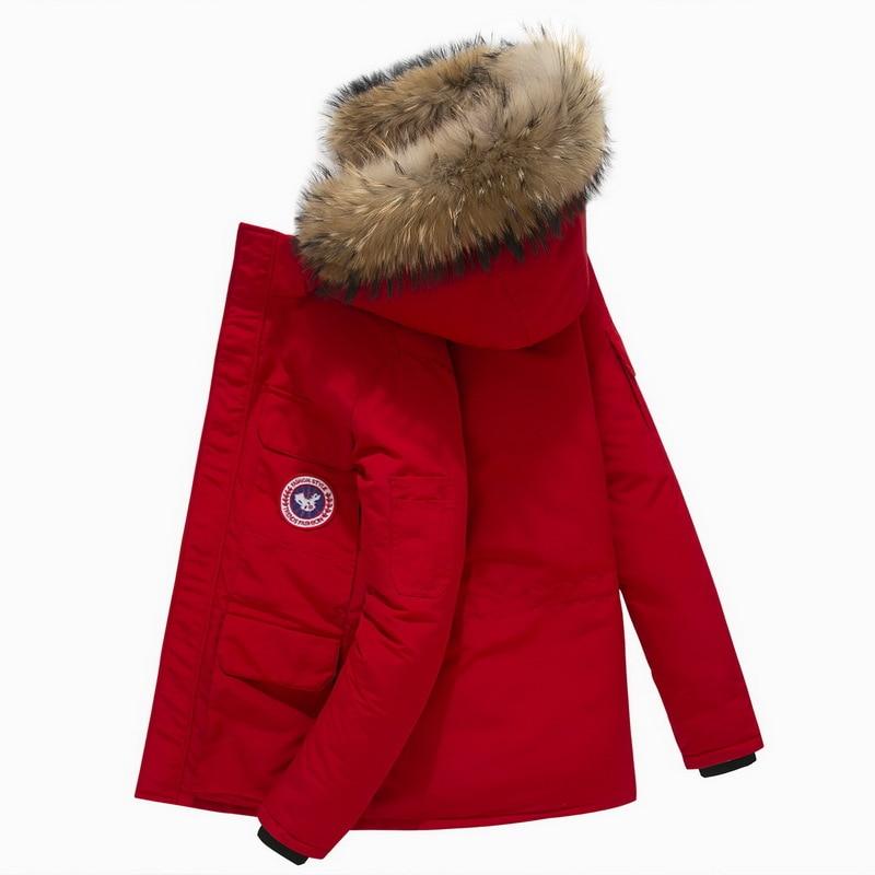 Winter Jacket Men Down Parkas 90% White Duck Down Coat Men's Thick Snow Parka Overcoat Windbreaker Long Fur Hooded Warm Parkas