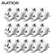 AUKTION 15Pcs/Lot Universal Travel 16A EU Adapter Plugs AC 250V International Power Socket Converter For Home Office Use