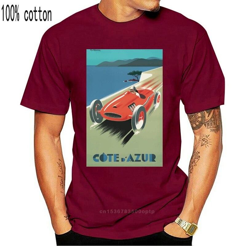Vintage Travel Poster Cote Dazure French Riviera Unisex T Shirt