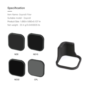 Image 5 - for GoPro Hero 8 Camera Black Accessories CPL ND8 ND16 ND32 Optical Glass Filter