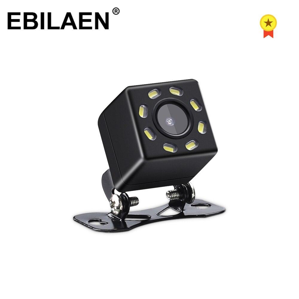 Caméra de vue arrière de voiture avec ligne de stationnement 12V CCD vidéo 8 LED HD Image de sauvegarde caméra de recul étanche