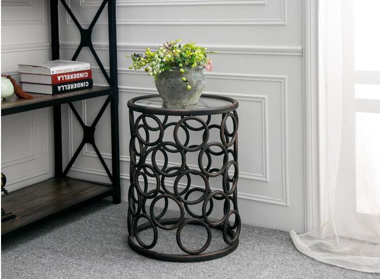 Petit fer table petite table de salon moderne décontracté table à thé