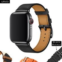 URVOI skórzany pasek na apple watch series 6 SE 5 4 3 2 1 pasek pojedynczo owinięty wokół ręki na paski iwatch opaska na nadgarstek klasyczny design 2020 wiosna tanie tanio CN (pochodzenie) 38 40 42 44mm Od zegarków Skórzane Nowy bez tagów IW32573 Pin Buckle Apple watch 38 40 42 44mm