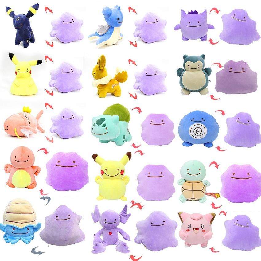 takara-tomy-font-b-pokemon-b-font-magic-tricks-ditto-deformation-pikachu-pillow-pikachu-eevee-squirtle-double-sided-plush-doll-toys-for-kids