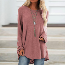 Oversized Sweatshirt Pullover Women Solid Color O Neck Simple Loose Sweatshirts Long Sleeve Women Hoodies Plus Size 5XL