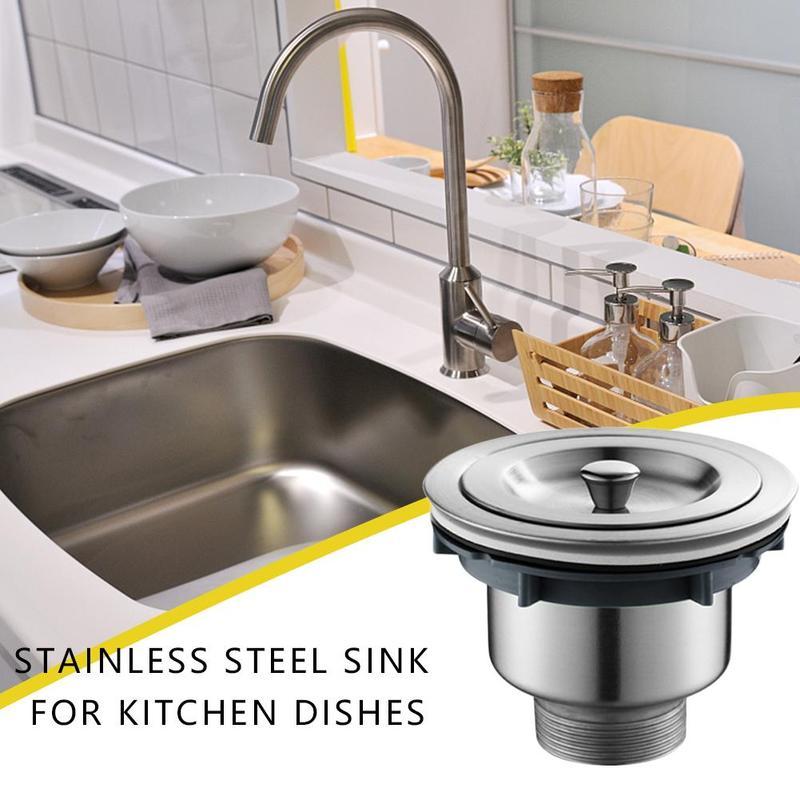 Pial Plug Strainer Kitchen Sink Waste Strainer Plug Strainer Bathroom For Uk For Kitchen Steel Plug Sinks Stainless Kitchen Drains Strainers Aliexpress