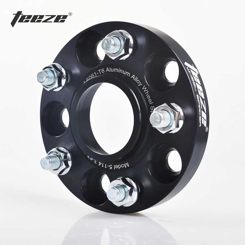 Teeze Aluminum Alloy 5 X 4.5 Wheel Spacers Adapters 5x114.3 CB 64.1mm For Honda Odyssey Civic Spirior CR-Z CR-V 2 Pieces