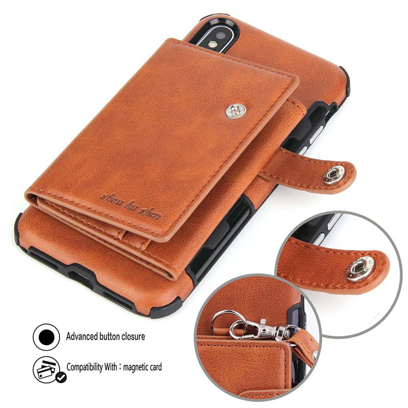 H8cd73c558c5049dcbdb61574797512414 Tikitaka Wallet Leather Phone Case For iPhone 6 6s Plus X XS XR Multifunction Card Slots Flip Cover For iPhone XS MAX 8 8 Plus