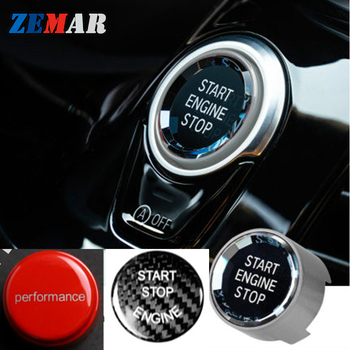 Engine Start Stop Switch Button Stickers For BMW F10 F30 F20 F34 F07 G30 F15 F16 F25 F48 X1 X3 X5 X6 M Performance Accessories image