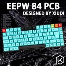 Xd84 プロ 75% eepw84 カスタムメカニカルキーボードサポートTKG TOOLS underglow rgb pcbプログラムkle kimeraコアロットのレイアウト