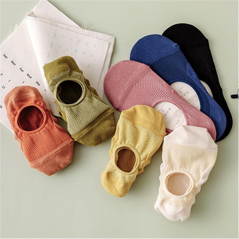 Spring Summer Invisible Socks Solid Color Woman Boat Socks Mesh Ventilation Sock Cotton Hoisery Girl Boy Slipper 1pair