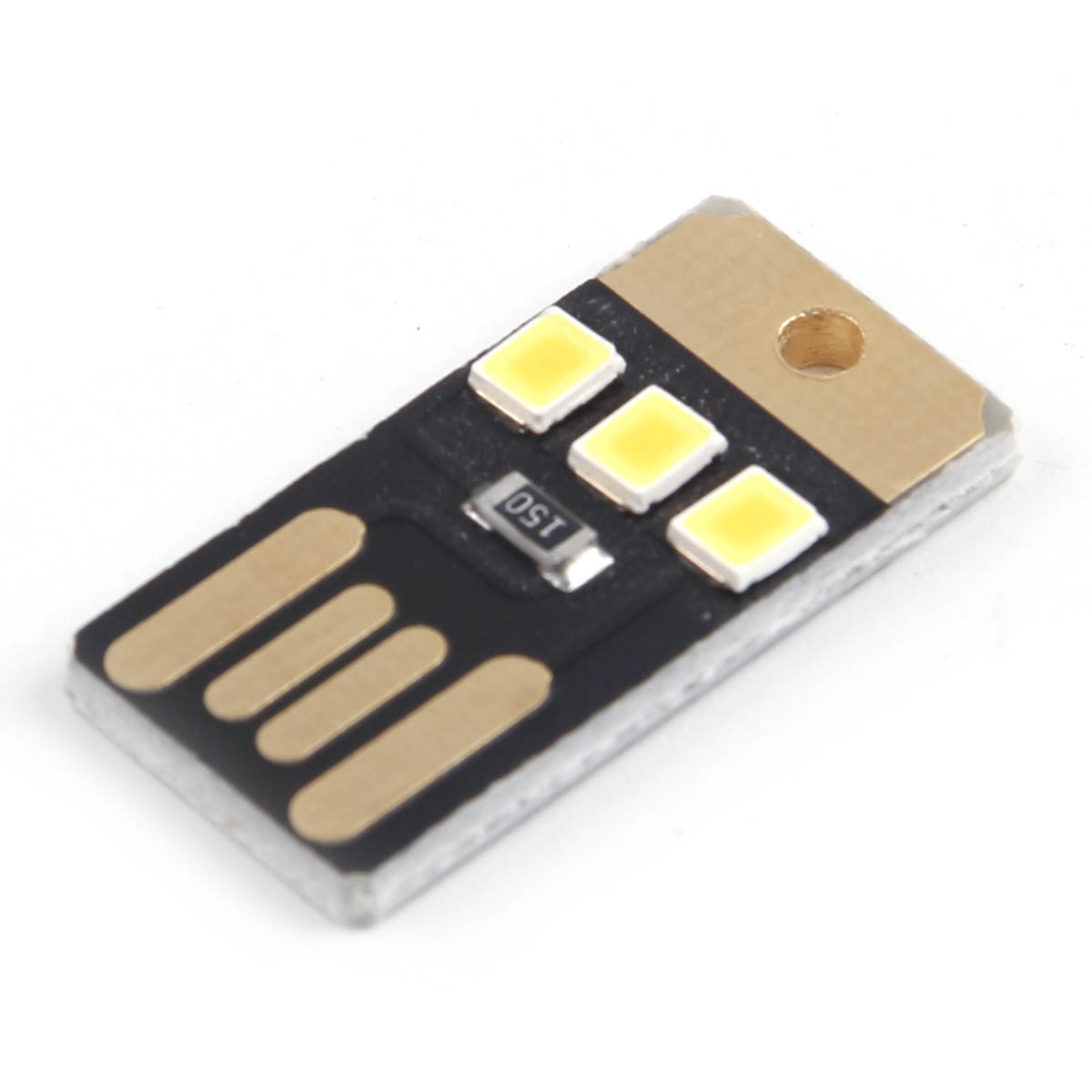 LED Night Light Pocket Card Lamp Led Keychain Lamp Portable USB Power New
