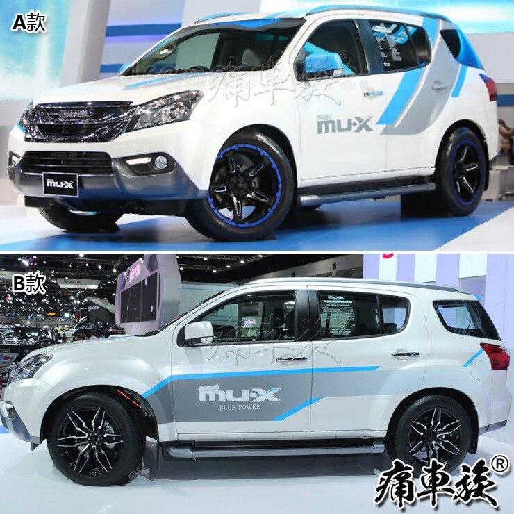 Стикер для автомобиля Isuzu mu X, украшение для двери кузова, наклейка с цветком, цветная панель mu X blue drive, декоративная наклейка для ремонта