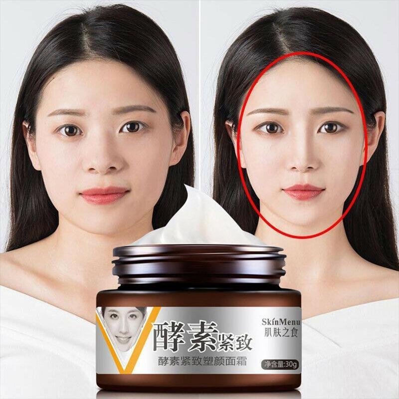 V-shape Face Slimming Cream Line Lift Firming Collagen Enzyme Moisturizing Facial V Cream Fat Burning Brighten Skin Care Hotsale