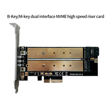 Zomy PCIE Adapter Card with LED B key to m.2 NGFF M key to M.2 NVME Dual Interface SATA SSD support 2230, 2242, 2260, 2280,22110 jimier 2 in 1 sata 3 0 to combo m 2 ngff b key