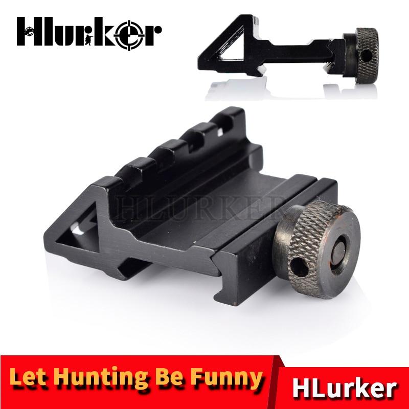 Hlurker التكتيكية 45 درجة الأوفست QD 20 مللي متر Picatinny ويفر السكك الحديدية يتصاعد الصيد الادسنس اكسسوارات ل مايكرو ريد دوت نطاق البصر