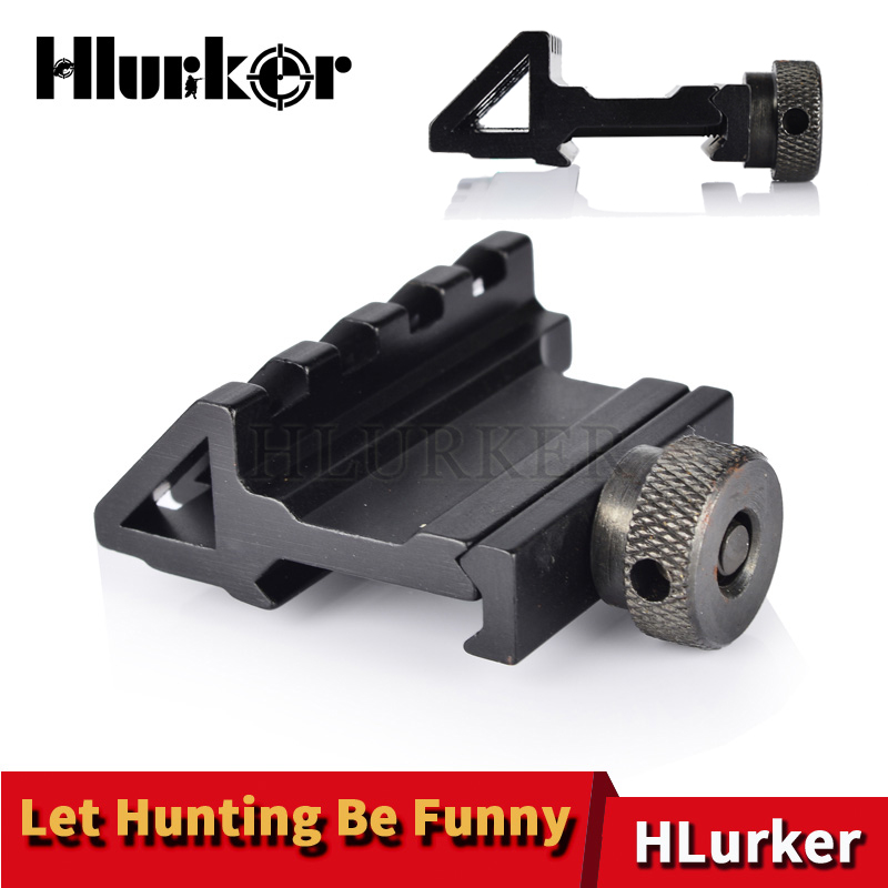 Hlurker Tactical 45 Degree Offset QD 20mm Picatinny Weaver Rail Mounts Hunting Airsoft Accessories For Micro Red Dot Scope Sight