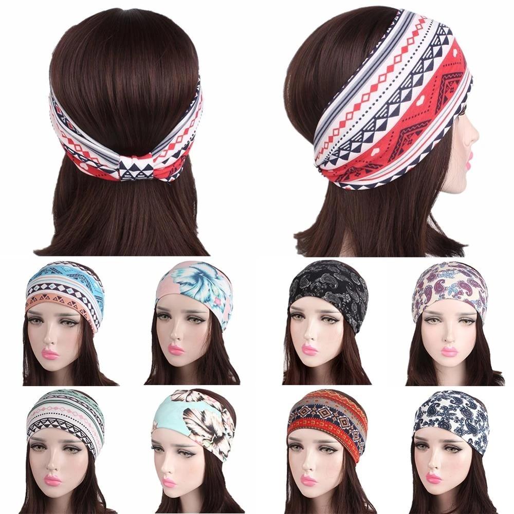 Leopard Women Headbands Twist Hairband Knot Cross Wide Headwear Hair Bands Hoop
