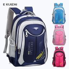 Купить с кэшбэком EKUIZAI Children School Bags High Quality Nylon Backpacks Lighten Burden On Shoulder For Kids Backpack Mochila Infantil Zip