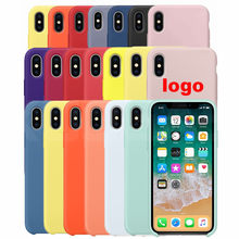 Luxury Original Official Silicone Case For iPhone 7 8 Plus For Apple Case For iPhone X XS Max XR 6 6S 5 5S SE Cover case YPAY(China)