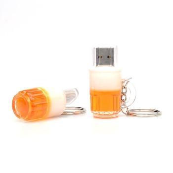 New Plastic Bottle USB 2.0 Memory flash With Key Chain 4GB 8GB 16GB 32GB 64GB 128GB
